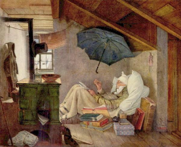 Carl Spitzweg: Der arme Poet (1839)