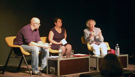 Leonhard Dobusch, Valie Djordjevic, Joost Smiers auf der Veranstaltung