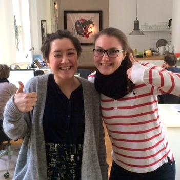 Susanna Ott und Simonié Schlombs freuen sich auf die nächsten Wochen bei iRights. Photo: Philipp Otto