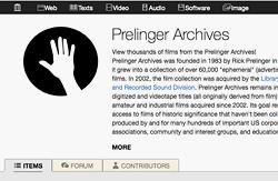 Ein Teil des Prelinger-Archivs ist beim Internet Archive online zugänglich. 2002 ging ein Großteil der physischen Bestände an die Library of Congress. Rick Prelinger ist Archivar, Autor, Filmemacher und seit 2013 Professor an der Abteilung für Film und digitale Medien der Universität Kalifornien, Santa Cruz.