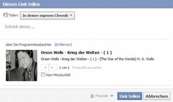 Abbildung: Einbetten von Videos bei Facebook (facebook.com, 05.11.13)