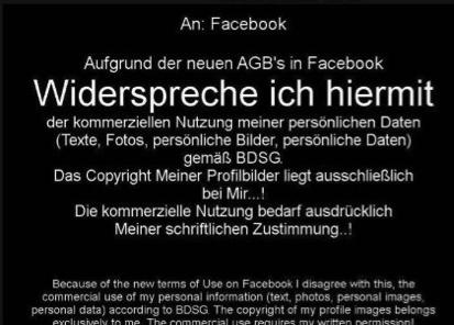 Wirkungslos: AGB-Widerspruch per Bild