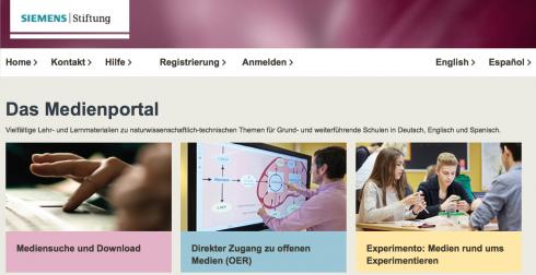 Screenshot: siemens-stiftung.org