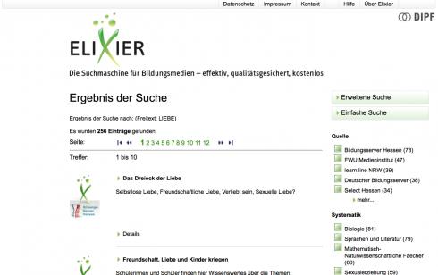 Screenshot: bildungsserver.de
