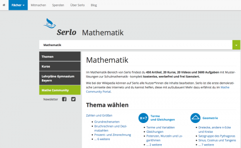 Screenshot: serlo.org