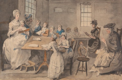 Elias Martin (1739–1818), Reading Lesson at a Dame School, Public Domain, Yale Center for British Art