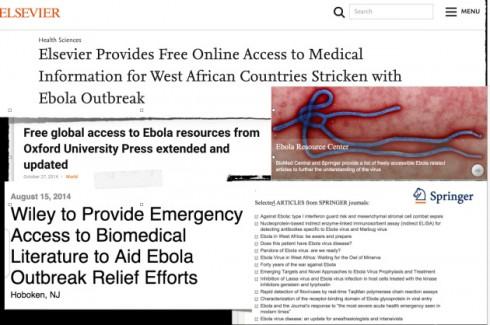 Auch beim Ebola-Ausbruch 2014/2015 war freier Zugang zu Publikationen etwas wichtiger als sonst.