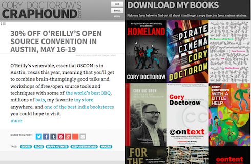 Screenshot: Cory Doctorow
