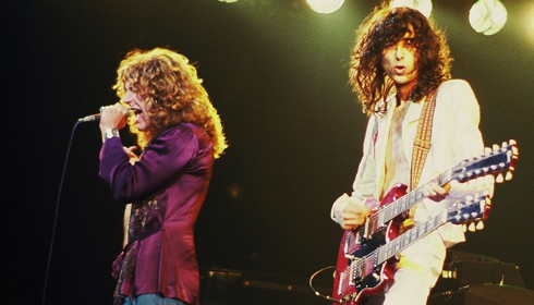 Jimmy Page with Robert Plant, Led Zeppelin 1977