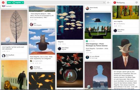 """Abb. 3: Screenshot zum Schlagwort """"René Magritte"""" auf Pinterest"""