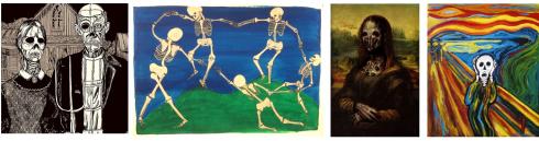 Abb. 4: Mem-Varianten mit gestorbenen Protagonisten