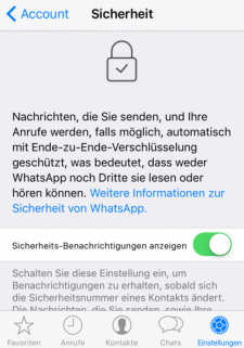 WhatsApp-Einstellung-Sicherheit