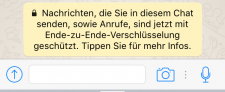 WhatsApp-Message-zu-Verschlusselung