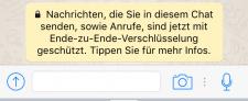WhatsApp-Message-zu-Verschlusselung