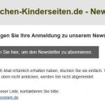 E-Mail zur Bestätigung des Newsletters E-Mail auf wir-machen-kinderseiten.de