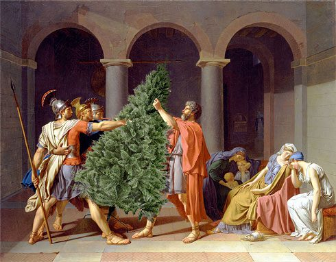 """""""christmas stress"""" von Reddit-Nutzer d_cb, nach Jacques-Louis David, Der Schwur der Horatier (gemeinfrei)"""