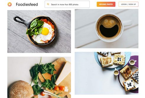 Screenshot: foodiesfeed.com