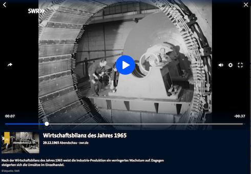 Screenshot SWR-TV-Archiv (Abendschau 29.12.1965)