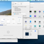 Screenshot MacOSX Benutzeroberfläche