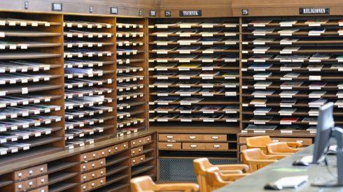 Zeitschriftenlesesaal der Deutschen Nationalbibliothek in Leipzig